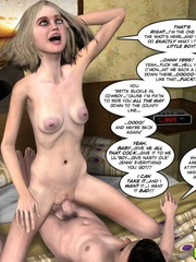 Naughty 3d blonde girl rides a hard stiff - Cartoon Sex - Picture 16