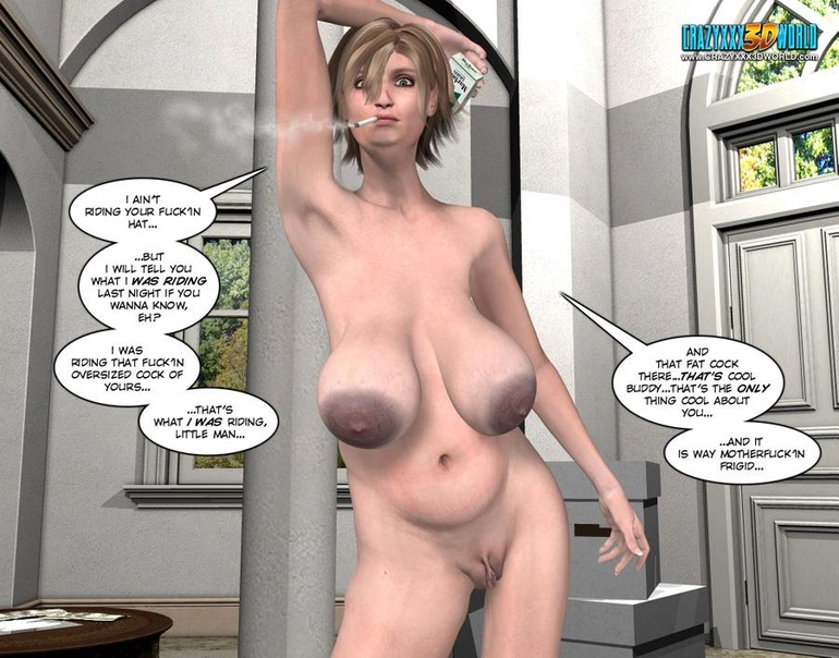 Big comics 3D seins