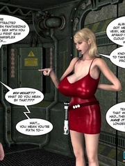 Super busty blonde 3d babe takes off her sexy - Cartoon Sex - Picture 6