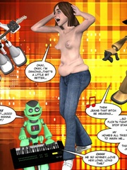Chubby almost naked 3d babe dancing in front - Cartoon Sex - Picture 13