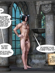 Muscular horned 3d guy trying to fuck two - Cartoon Sex - Picture 5