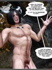 Muscular horned 3d guy trying to fuck two - Cartoon Sex - Picture 14