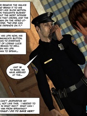 Two horny 3d pollice officers sharing sexy - Cartoon Sex - Picture 1