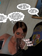 Two horny 3d pollice officers sharing sexy - Cartoon Sex - Picture 11