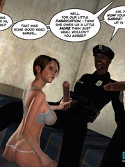 Two horny 3d pollice officers sharing sexy - Cartoon Sex - Picture 13