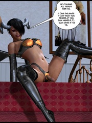 Perfect body 3d succubus ladyboy in latex - Cartoon Sex - Picture 13