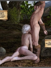 White haired 3d els girl geys her face cum - Cartoon Sex - Picture 10