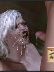 White haired 3d els girl geys her face cum - Cartoon Sex - Picture 14
