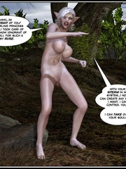 White haired 3d els girl geys her face cum - Cartoon Sex - Picture 16