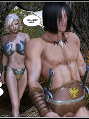 Muscular 3d guy and sexy busty elf babe - Cartoon Sex - Picture 1