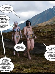Muscular 3d guy and sexy busty elf babe - Cartoon Sex - Picture 2