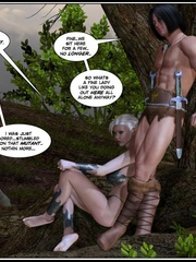 Muscular 3d guy and sexy busty elf babe - Cartoon Sex - Picture 3