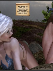 Muscular 3d guy and sexy busty elf babe - Cartoon Sex - Picture 5