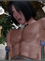 Muscular 3d guy and sexy busty elf babe - Cartoon Sex - Picture 6