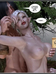 Muscular 3d guy and sexy busty elf babe - Cartoon Sex - Picture 12