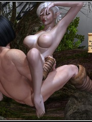 Muscular 3d guy and sexy busty elf babe - Cartoon Sex - Picture 13