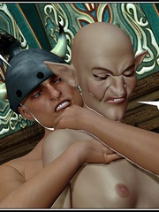 Bald 3d elf girl get her tight ass stretched - Cartoon Sex - Picture 6