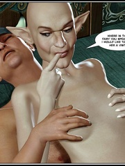 Bald 3d elf girl get her tight ass stretched - Cartoon Sex - Picture 12