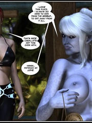 Lusty redhead 3d babe get her flowing pussy - Cartoon Sex - Picture 2