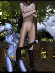 Lusty redhead 3d babe get her flowing pussy - Cartoon Sex - Picture 4