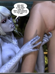 Lusty redhead 3d babe get her flowing pussy - Cartoon Sex - Picture 5