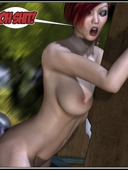Lusty redhead 3d babe get her flowing pussy - Cartoon Sex - Picture 8