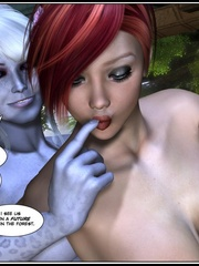 Lusty redhead 3d babe get her flowing pussy - Cartoon Sex - Picture 11
