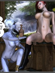 Lusty redhead 3d babe get her flowing pussy - Cartoon Sex - Picture 13