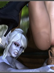 Lusty redhead 3d babe get her flowing pussy - Cartoon Sex - Picture 16