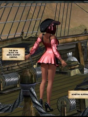 Slutty redhead 3d captain girl fucking with - Cartoon Sex - Picture 13