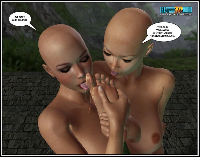 Sexy busty 3d ladyboy and three perfect body - Cartoon Sex - Picture 8