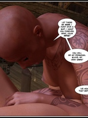 Strange tattoed 3d bal babe riding ladyboys - Cartoon Sex - Picture 3