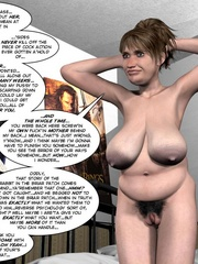 Two fat 3d older women can't share young guy - Cartoon Sex - Picture 2