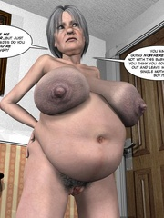 Two fat 3d older women can't share young guy - Cartoon Sex - Picture 9