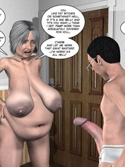 Two fat 3d older women can't share young guy - Cartoon Sex - Picture 10