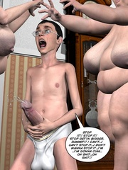 Two fat 3d older women can't share young guy - Cartoon Sex - Picture 12