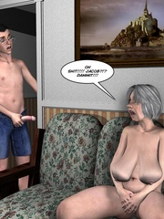 Huge tittied older 3d woman gets her pussy - Cartoon Sex - Picture 2