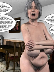 Huge tittied older 3d woman gets her pussy - Cartoon Sex - Picture 7