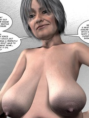 Huge tittied older 3d woman gets her pussy - Cartoon Sex - Picture 10