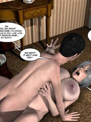 Huge tittied older 3d woman gets her pussy - Cartoon Sex - Picture 14