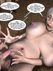 Huge tittied older 3d woman gets her pussy - Cartoon Sex - Picture 16