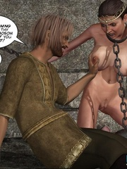 Poor chained 3d princess gets facialized by - Cartoon Sex - Picture 7