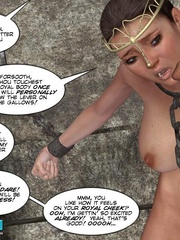 Poor chained 3d princess gets facialized by - Cartoon Sex - Picture 8