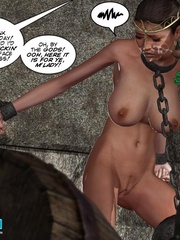 Poor chained 3d princess gets facialized by - Cartoon Sex - Picture 9