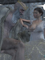 Old drunk nasty 3d king forcedhis wife suck - Cartoon Sex - Picture 11