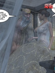 Old drunk nasty 3d king forcedhis wife suck - Cartoon Sex - Picture 12