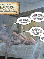Old drunk nasty 3d king forcedhis wife suck - Cartoon Sex - Picture 14