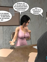 Cute busty 3d brunette babe gets her pussy - Cartoon Sex - Picture 11