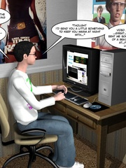 Horny naked 3d couple making virtual love via - Cartoon Sex - Picture 3