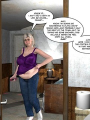 Chubby busty 3d girl can't stand her sexual - Cartoon Sex - Picture 6